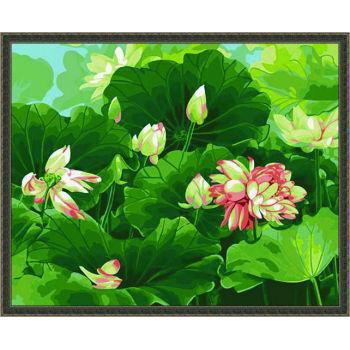 Diy malen nach zahlen- Blume acrylfarbe- Lack Junge 40*50cm- Ölfarbe kunst kit