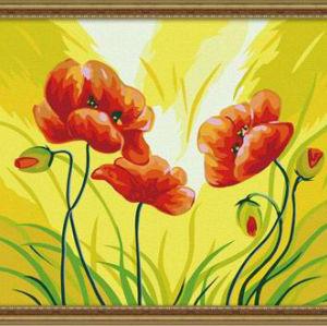 ew flower design Art Supplies - Canvas, Acrylic Paint,oil painting beginner kit