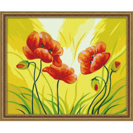 Ew blumen-design kunst liefert- Leinwand, acrylfarbe, Ölgemälde für anfänger