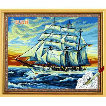 Paintboy malen mit zahlen- Acryl malen- seascape leinwand Ölgemälde g077