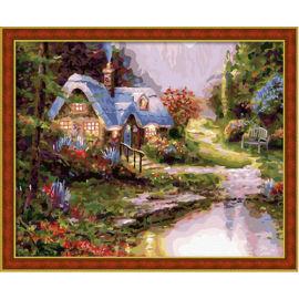 Diy malen nach zahlen- Acryl malerei kunst gesetzt Landschaft- malen Junge 40*50cm