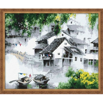 Landschaft acryl-malerei nach zahlen- malen Junge 40*50cm- yiwu fabrik großhandel