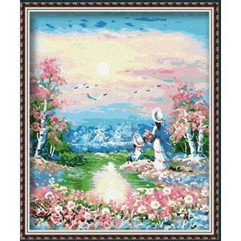 Diy malen mit Zahlen- en71-3- astmd- 4236 Landschaft acrylfarbe- Lack Junge 40*50cm g118