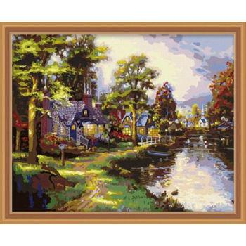 abstrakte landschaft Öl malen nach zahlen yiwu fabrik neue Landschaft bild malerei