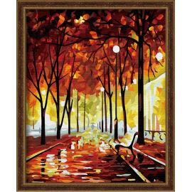 Diy Ölbilder nach zahlen- Ölgemälde für anfänger- Leinwand Ölgemälde set-diy kunst gesetzt- Baum foto