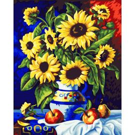 Blume malen nach zahlen 40*50cm