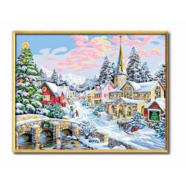 Ölbild auf leinwand diy malen nach zahlen- en71-3- astmd- 4236 acrylfarbe- Lack Junge 40*50cm