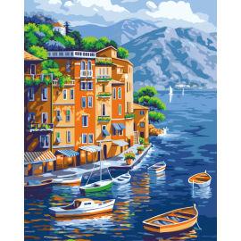 Abstrakten acryl malen- diy malerei nach anzahl Landschaft- malen Junge 40*50cm