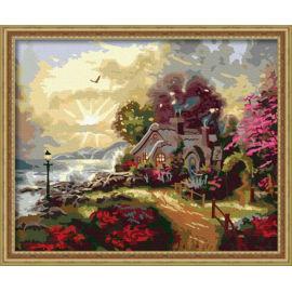 Ölgemälde für anfänger- Leinwand Ölgemälde set-diy kunst gesetzt Landschaft malen nach zahlen g097
