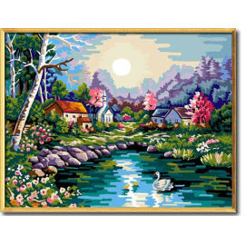Malen mit zahlen- heißer verkauf handwerk geschenk färbung von zahlen diy großhandel bastelbedarf landschaftsmalerei