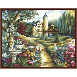 2014 fabrik verkaufen ce en71 abstrakte landschaft leinwand lack-set