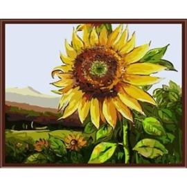 diy digitale handgefertigt sonnenblumen heißen foto auf canvos wohnkultur Ölgemälde kunst