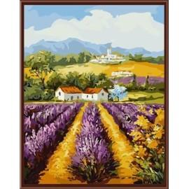 hersteller gute qualität gerahmte leinwand Landschaft diy malen nach zahlen