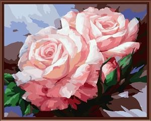 40*50 handmade flower canvas oil painting with number
