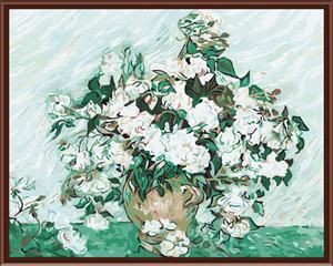 Yiwu manufactory 40*50 abstract diy flower oil painting on canvas