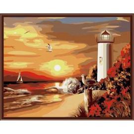 Paintboy marke Landschaft gerahmte leinwand 40*50 Ölgemälde von nummer