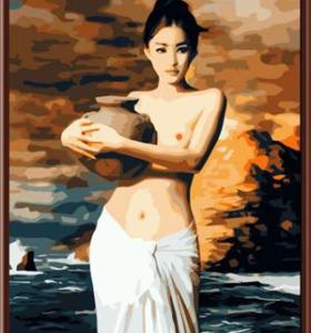 Yiwu manufacturer nude canvas oil paintings by number