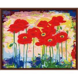 40*50 leinwand hand- bemalte acrylmalerei nach zahlen-sets für heimtextilien