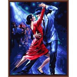Großhandel diy digitale 40*50 leinwand Flamenco Ölgemälde