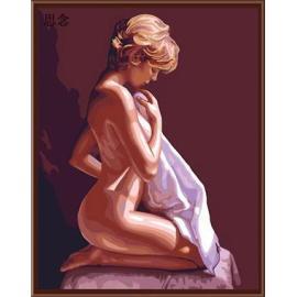 moderne porträt nackt sexy girl acyclische malerei leinwand