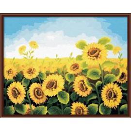 Großhandel diy digitale 40*50 sonnenblumenöl gemälde von nummer