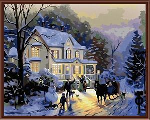 CE wholesale DIY famous oil painting by number on canvas
