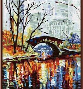 CE wholesale canvas hand-painted oil painting by number