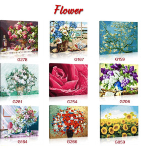 Manufactor paintboy brand DIY hand-painted canvas flower painting by numbers for home decor