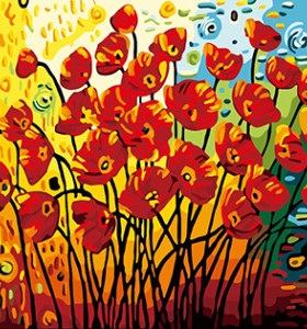 GX7010 new design abstract flower hot sale 40*50 DIY painting by number kits