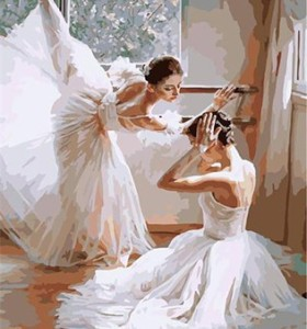 digital canvas painting ballet dancer for wall decor G399