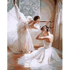 Digitalen leinwand malerei Balletttänzerin für wand-dekor g399