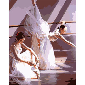 G400 ballerina painting by numbers for wall decor