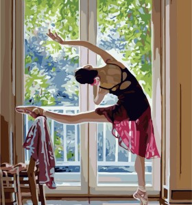 G236 ballerina diy painting by numbers for home decor