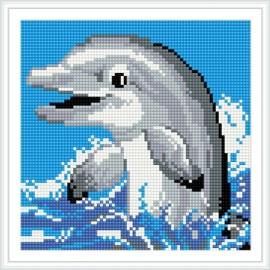 bz022 schöne delfin tier 5d diamant malerei für den sommer