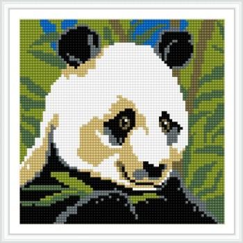 Bz033 voll bohren panda 20*20 gute qualität mosaik diamant gemälde für wohnzimmer