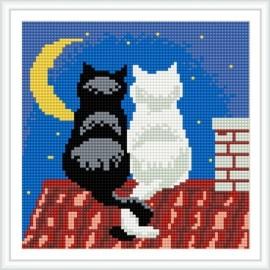 bz038 niedlich Katzen heiß in russische mosaik diamant farbe gestaltung