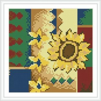 bz025 schöne blume heiß im Sommer mosaik diamant gemälde für wohnzimmer