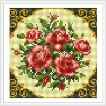 Bz032 rose blume heiß im Sommer mosaik modernen Öl-leinwand art diy