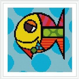 Bz069 großhandel abstrakte fisch-design diy kreuz diamant malerei für wohnkultur