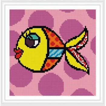 bz070 großhandel cartoon fisch voller muster runde diamant malerei für wohnkultur