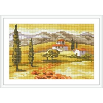 Landschaft harz runde diamant malerei für wohnkultur cz014