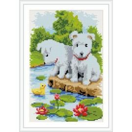 wand kunst kleinen Hund diy diamant malerei auf leinwand mit holzrahmen cz028