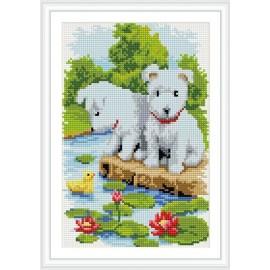 voller hund muster malen Junge diamant malerei mit holzrahmen cz017