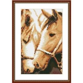 hot pferd malen Junge diamant malerei mit holzrahmen cz018