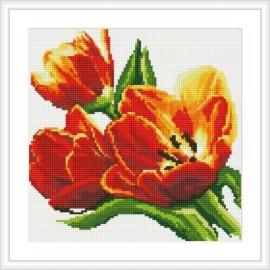 Abstracto mosaico bricolaje pintura diamante de la decoración del hogar nueva caliente foto de la flor HZ012