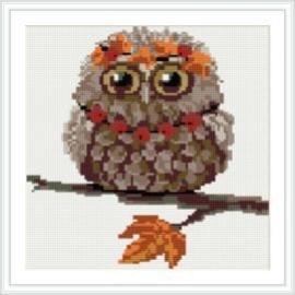 Abstracto mosaico bricolaje pintura diamante de la decoración del hogar nuevos calientes owl foto HZ010