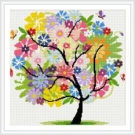 Abstracto mosaico bricolaje pintura diamante picture tree para la decoración casera HZ004