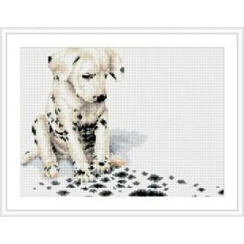 diy kristall diamant malerei kit tier hund Bild yiwu hersteller rz011