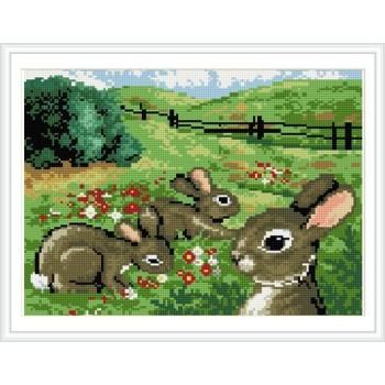 2.5mm runden Diamanten malerei landschaft kaninchen bild rz028