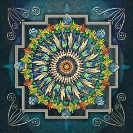 handarbeit Mandala leinwand diamant malerei mit holzrahmen fz003